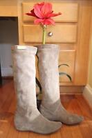 nwob FORNARINA women's suede taupe mid-calf boots size 39  (BOTA300)