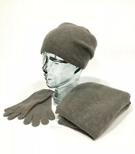 UGG 100% CASHMERE SCARF GLOVES AND BEANIE HAT GIFT SET SLATE GRAY -ONE SIZE -NIB
