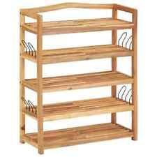 vidaXL Solid Acacia Wood 5-Tier Shoe Storage Rack Cabinet Shelf Organiser