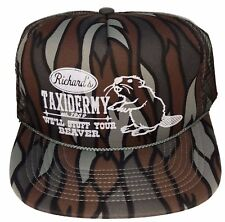 Richard's Taxidermy Stuff Beaver Camouflage Tiger Camo Mesh Trucker Hat Cap