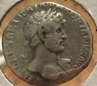 Ancient Roman Silver Coin of the Emperor Hadrian