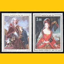 2 TABLEAUX PRINCE & PRINCESSE DE MONACO - 1972 - N° 914/915 NEUFS **
