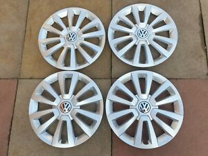 "Genuine Volkswagen Beetle Wheel Trims 16"" Hub Caps Set of 4"