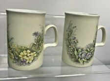 ☕️Ashdale Pottery Floral Tea Coffee Pair of 2 x Mugs Cups Made in England☕️ W129