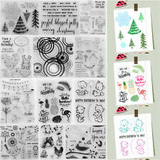 Silicone Clear Stamps Seal Scrapbook Embossing Album Card Decor Diary DIY Craft