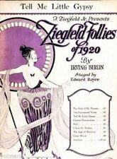 Tell Me Little Gypsy, Ziegfeld Follies 1920 Irving Berlin, 1st offered