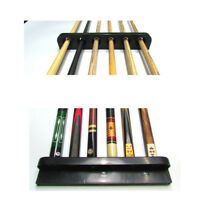 6 Clips Snooker Stick Holder Cues Rack Pool Billiard Wall Mounted Wooden Game G