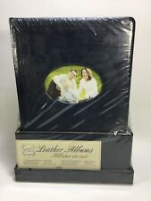 Set of 2 Leather Photo Albums W/ Memory Box