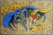Batman and Robin retro metal wall plaque tin sign poster superhero DC Comics