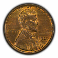 1920 1c Lincoln Wheat Small Cent - Some Original Red & Brown - SKU-Y2901
