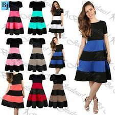 Unbranded Plus Size Striped Dresses for Women