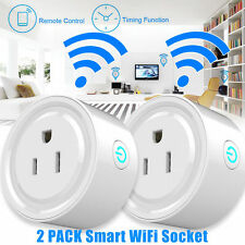 2PACK Mini WiFi Smart Remote Control Timer Switch Power Socket Outlet US Plug SK