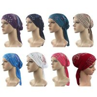 Muslim Womens Hijab Cancer Hat Chemo Inner Caps Turban Hair Loss Head Scarf Smat