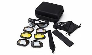 Sports Protective Goggles Glasses Eyewear Triple Extra Interchangeable Lens
