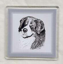 More details for bernese mountain dog coaster by curiosity crafts 1 or set of 4