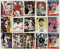 (15) 2017-2020 Topps Boston Red Sox Baseball Card Lot Chris Sale Xander Bogartes