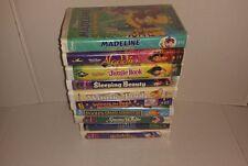 Lot (10) VHS Disney VCR Tapes Aladdin Jungle Book Winnie the Pooh Snow White