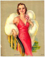 "Hello Everybody by J Erbit 1930s Glamour Girl art deco print 7.75"" x 9.75"" Ӝ"