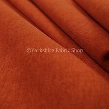 10 Metres Quality Highland Wool Effect Chenille Curtain Upholstery Orange Fabric