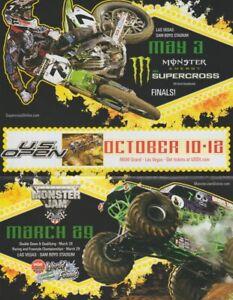 """2008 Bubba Stewart + """"Grave Digger"""" Motocross Monster Truck Vegas T/S Handout"""