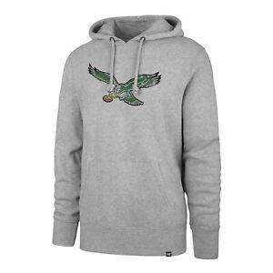 Philadelphia Eagles Men's Throwback Logo Pullover Hoody Sweatshirt - Gray