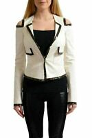 Versace Versus Women's Beige Three Button Cold Shoulder Blazer US 4 IT 40