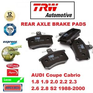 FOR AUDI Coupe Cabrio 1.8 1.9 2.0 2.2.3 2.6 2.8 S2 1988-2000 REAR BRAKE PADS