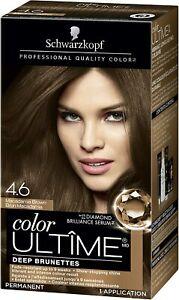 Schwarzkopf Color ULTÎME Permanent Hair Color, # 4.6 Macadamia Brown