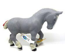 S17)  PAPO (51551) Percheron grau Hengst Kaltblut Horse Pferd Pferde Tierfiguren