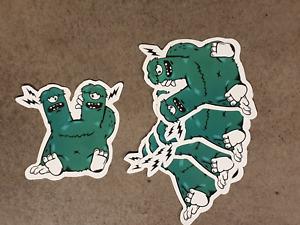 2 headed monster sticker pack x 5,