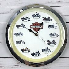 2005 Harley Davidson Collectable Motorcycle Wall Clock With Sound