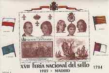 HOJA RECUERDO 1985. XVII FERIA NACIONAL DEL SELLO. MADRID. HOJA 2.