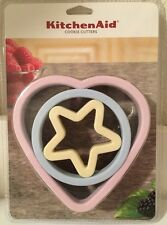 KitchenAid Cookie Cutters Heart Circle Star Stainless Steel Soft Grip Edge Nest