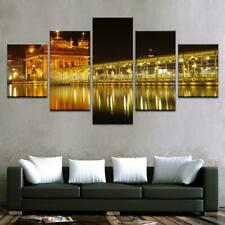 Golden Temple At Midnight 5 panel canvas Wall Art Home Decor Poster Print