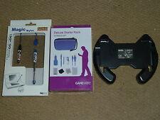 NINTENDO 3DS LOT OFFICIAL MARIO KART WHEEL 2 STYLUS ACCESSORY PACK USB Case Car