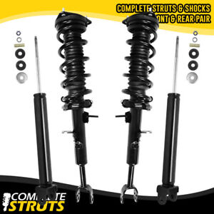 Complete Struts w/ Coil Springs & Rear Shocks for 03-05 Infiniti G35 Coupe