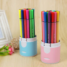 Pack of 18 Color Pens Fine Colouring Felt Tip Washable Ink School Art Drawing