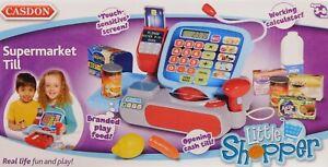Casdon Supermarket Till Cash Register Shop Role Play Kids Toy/Gift, brand new