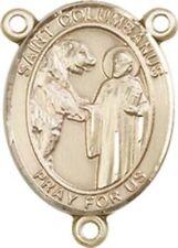 14KT Gold Filled Saint Columbanus Rosary Centerpiece Medal, 3/4 Inch