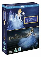 Cinderella 2-Movie Collection Animated + Live [Blu-ray Set, Disney, Region Free]