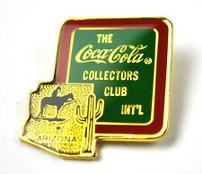 COCA-COLA COKE EE.UU. Solapa Pin Broche - Collectors Club Int'l ARIZONA