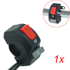 "7/8"" Motorcycle Handlebar Fog Headlight Horn Start Kill Switch ON OFF Button 12V"