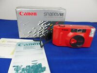 Vintage Red Canon Snappy S Fully Automatic 35mm Film Camera in Box Lomo