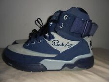mens Patrick Ewing Georgetown colors gray blue basketball shoes sneakers 8.5 EUC