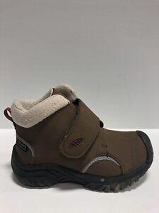 Keen Toddlers' Kootenay 3, Mid Waterproof Hiking Boots-Brown, Boys' Size 3.