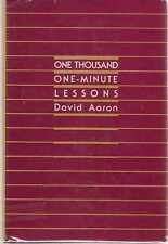 One Thousand One-Minute Lessons by David Aaron (1985, Hardcover) Review Copy