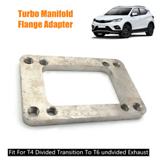 Turbo Manifold Flange S.S Steel Adapter Gasket T6 to T4 Undivided Exhaust 8 Hole