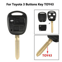 3 Button Toy43 Remote Key Case Fob Cover For Toyota Avensis Corolla