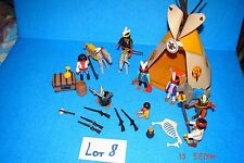 7 INDIAN PLAYMOBIL TEE PEE LOT 8