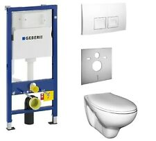 Vorwandelement mit Spülkasten Geberit mit Ceravid Wand-WC Tiefspüler